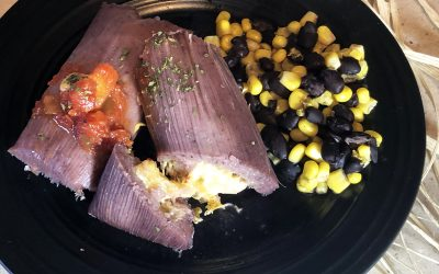 Blue Corn Tamales with Chicken and Green Chilies